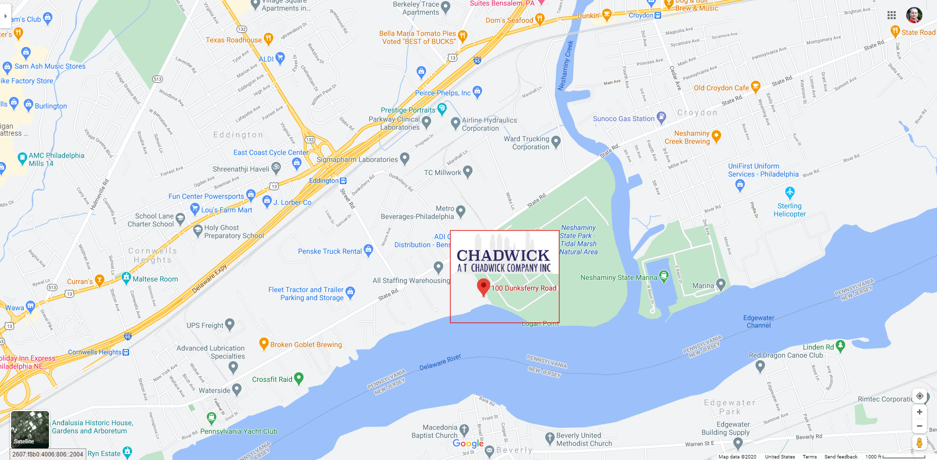 Google map with logo
